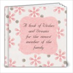 Girl-Baby Message Book - 8x8 Photo Book (20 pages)