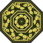 yellow rose  umbrella - Folding Umbrella
