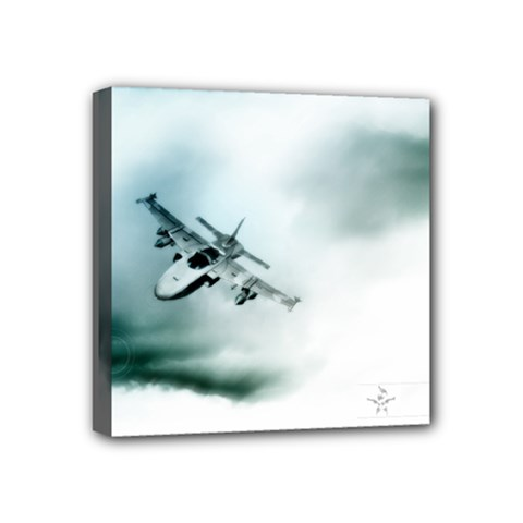 Aircraft Mini Canvas 4  x 4  (Stretched) by Xvmon