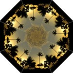 Golden Sunset on Kaui - Folding Umbrella