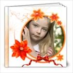 Orange Flower Book - 8x8 Photo Book (20 pages)
