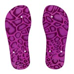 Purple Python Flip Flops - Women s Flip Flops