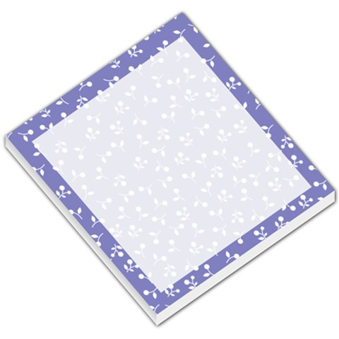 Purple Small Flower By Design001   Small Memo Pads   Avka7pafwcp6   Www Artscow Com