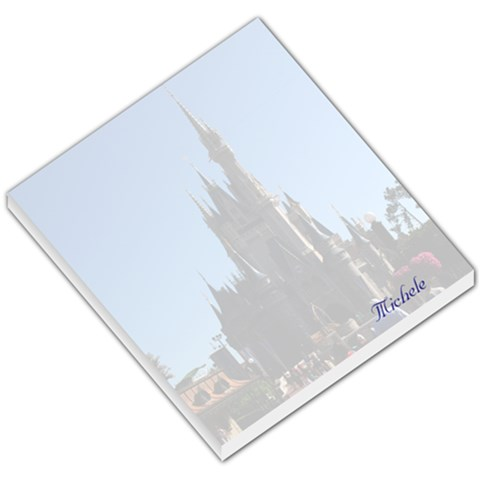 Wdw Cinderella s Castle By Michele Sanders   Small Memo Pads   O3nebid10s0v   Www Artscow Com