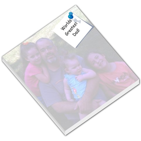 Greatest Dad By Kristen   Small Memo Pads   Fdycs16fxfv3   Www Artscow Com