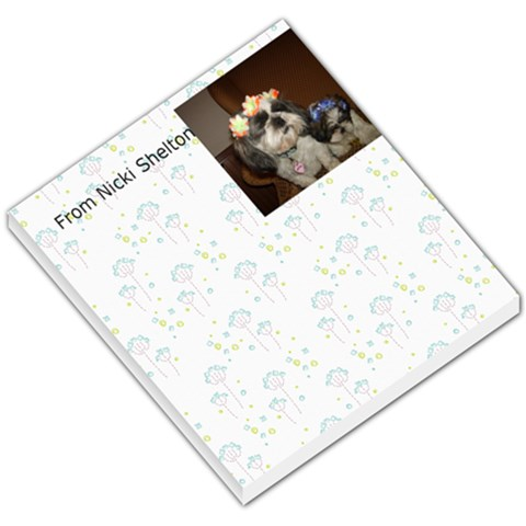 Memo Pad By Sherry Gay   Small Memo Pads   3brto4h2t8xd   Www Artscow Com
