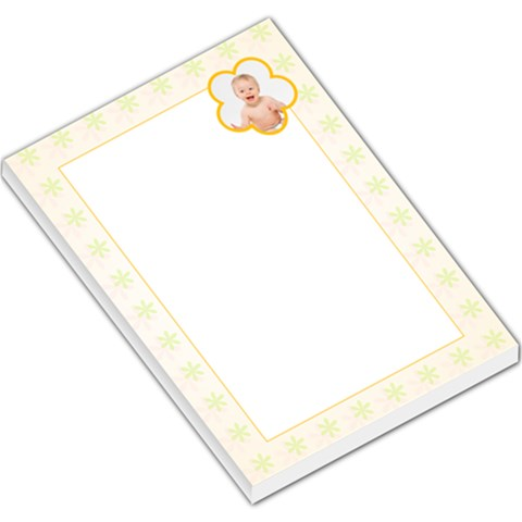 Yellow Floral Footer By Gary Bush   Large Memo Pads   4g6n8fx49qdw   Www Artscow Com