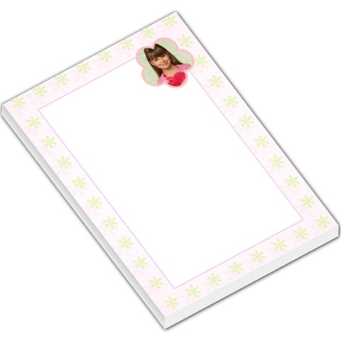 Green Floral Border By Gary Bush   Large Memo Pads   6pyfhf6oagje   Www Artscow Com