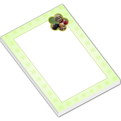 Green Flowers Green Border By Gary Bush   Large Memo Pads   Odyb1lr4w3t6   Www Artscow Com