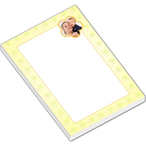 Yellow Flowers Yellow Border By Gary Bush   Large Memo Pads   3vmownmt2cow   Www Artscow Com