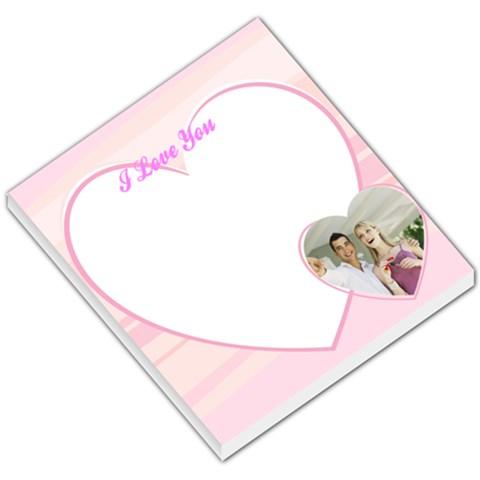I Love You Pink Heart By Gary Bush   Small Memo Pads   53x7qztb4i7e   Www Artscow Com