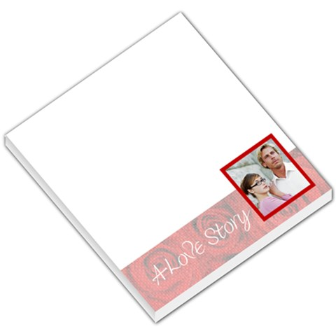 Love Story Roses Footer By Gary Bush   Small Memo Pads   8bcgzvdpkbp1   Www Artscow Com