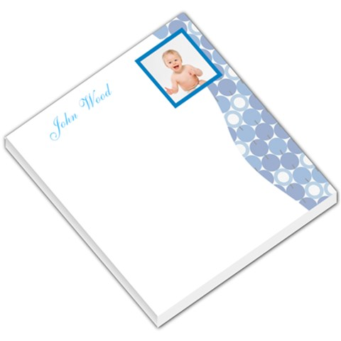 Baby Blue Dotted Sidebar By Gary Bush   Small Memo Pads   W3ypbtl17c3o   Www Artscow Com