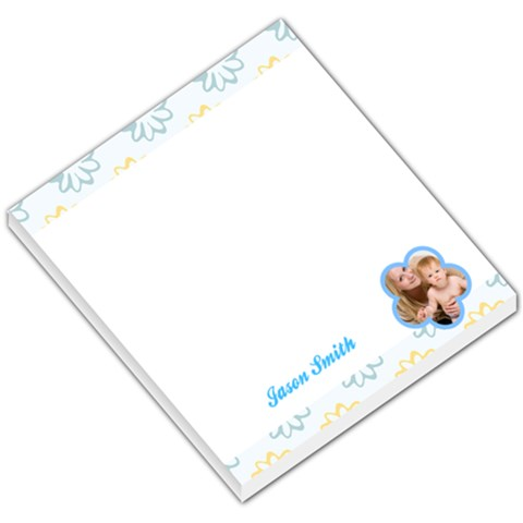Blue And Yellow Flowers Header And Footer By Gary Bush   Small Memo Pads   Kapu26afaxrr   Www Artscow Com