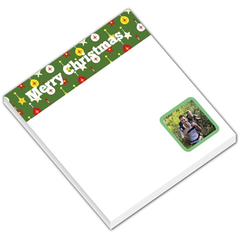 Christmas Baubles Green Header By Gary Bush   Small Memo Pads   Mwunbo97qcwy   Www Artscow Com