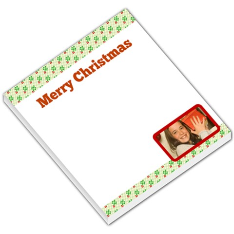 Merry Christmas Hollies Header & Footer By Gary Bush   Small Memo Pads   Bqfz6m00tvog   Www Artscow Com