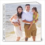 Figueroa Family Beach Trip 2010 - 8x8 Photo Book (30 pages)