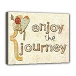 stretched canvas - enjoy the journey - Canvas 14  x 11  (Stretched)