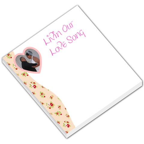 Love007 By Amanda Trapp   Small Memo Pads   G37d3amuadr1   Www Artscow Com