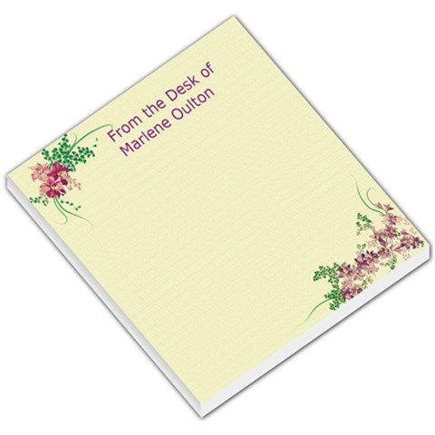 Memo Pad By Marlene Oulton   Small Memo Pads   Md2m9dht4shx   Www Artscow Com