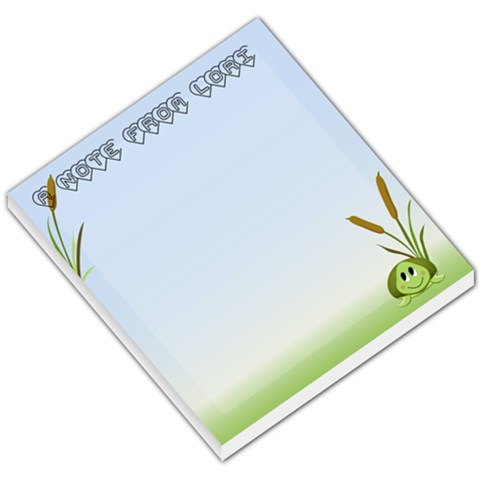 Shion Turtle By Lori Drummond   Small Memo Pads   Walivs3xk0ht   Www Artscow Com