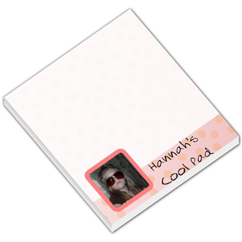 Hannah By Sharon   Small Memo Pads   Dx1e1twofnap   Www Artscow Com