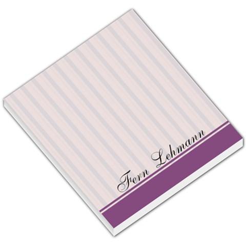 Purple Line Background By Fern Hobbs Lehmann   Small Memo Pads   C24zceneqdba   Www Artscow Com