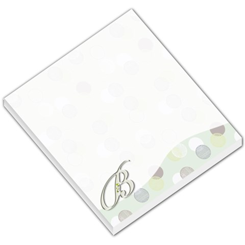 B Monogramed Memo Pad By Sarah Brooks   Small Memo Pads   M4nlm5mp99xu   Www Artscow Com