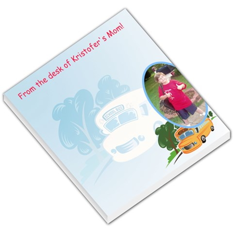 First Day Of School Memo Pad By Cathi   Small Memo Pads   5e9ccjyore7s   Www Artscow Com