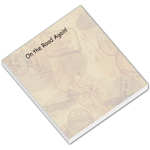 On The Road By Ashley Todd   Small Memo Pads   Vj48cpmscmxo   Www Artscow Com