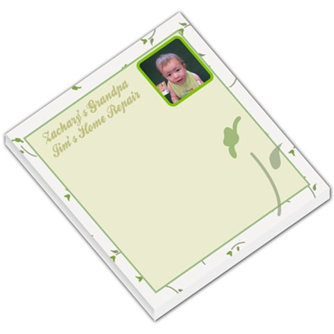 Zachary s Grandpa Memo Pad By Tammyjo Hurd   Small Memo Pads   Qsk3hwhccykx   Www Artscow Com