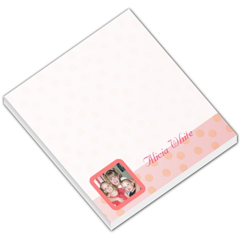 Pink Theme By Alicia   Small Memo Pads   9c6ebs339nn6   Www Artscow Com