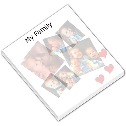 My Family Note Pad By Danae Thomas   Small Memo Pads   L7pgg8qepl0g   Www Artscow Com