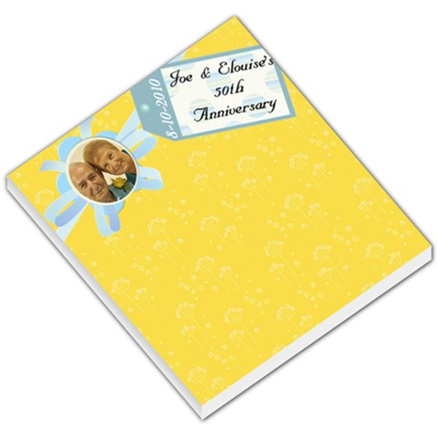 50th Memopad   By Dolores Brister   Small Memo Pads   1s0m25tvrfpg   Www Artscow Com