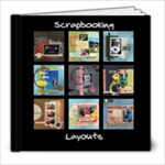 Scrapbooking layouts 1 - 8x8 Photo Book (20 pages)
