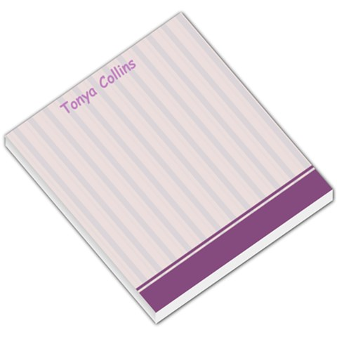 Purple Line Background By Tonya Collins   Small Memo Pads   Xhtu2vrv79k9   Www Artscow Com