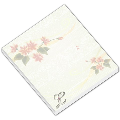 L Floral Notepad By Larissa Smith Circelli   Small Memo Pads   Cqgr4n38mwn2   Www Artscow Com