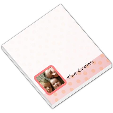 Pink Theme By Lisa Crain   Small Memo Pads   Ymonuk12wtcy   Www Artscow Com