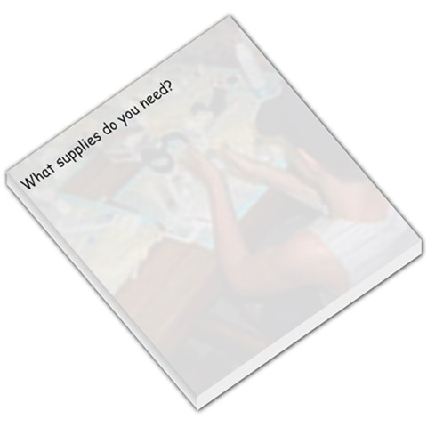Supply List By Frances Melichar   Small Memo Pads   L2i3p13c1j42   Www Artscow Com