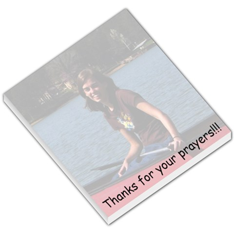 Thanks For Your Prayers  Canoe By Michelle Cover   Small Memo Pads   Hf9o66adbcnn   Www Artscow Com