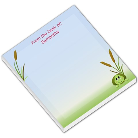 Shion Turtle By Samantha   Small Memo Pads   L6emxxo4p0tl   Www Artscow Com