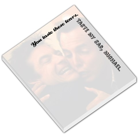 Michael And G O B Memo Pad By Kellie   Small Memo Pads   3kfpe939vn1l   Www Artscow Com