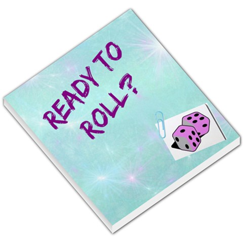 Dice Night By Em Rally   Small Memo Pads   Na3ueqwmylu9   Www Artscow Com