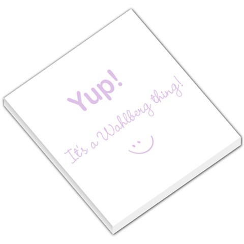 Memo Pad Small   Wahlberg Thing By Jaime   Small Memo Pads   Sf904un70xi0   Www Artscow Com