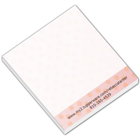 Pink Theme By Rebecca  Lanter   Small Memo Pads   Gkt9xq1dm2u0   Www Artscow Com