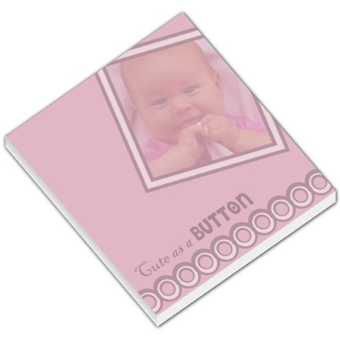 Baby Girl Notepad By Carmensita   Small Memo Pads   Ouh9940yeivo   Www Artscow Com