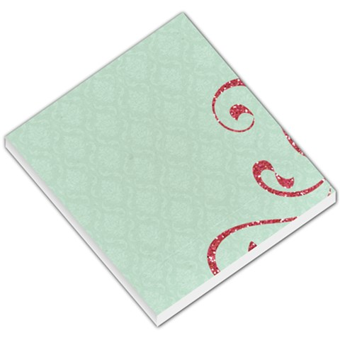 Memo Pad, Teal With Pink By Mikki   Small Memo Pads   Bsb94yufkduq   Www Artscow Com