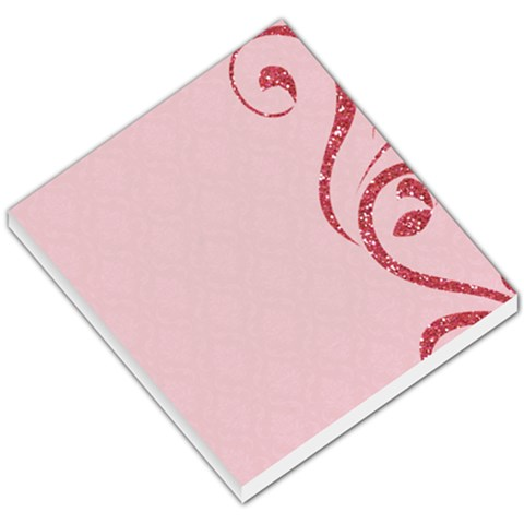 Memo Pad, Pink With Glitter By Mikki   Small Memo Pads   Qudg58qcg7ar   Www Artscow Com