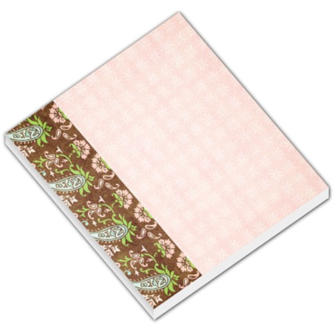 Memo Pad, Pink & Brown By Mikki   Small Memo Pads   Kg0adiit67fo   Www Artscow Com