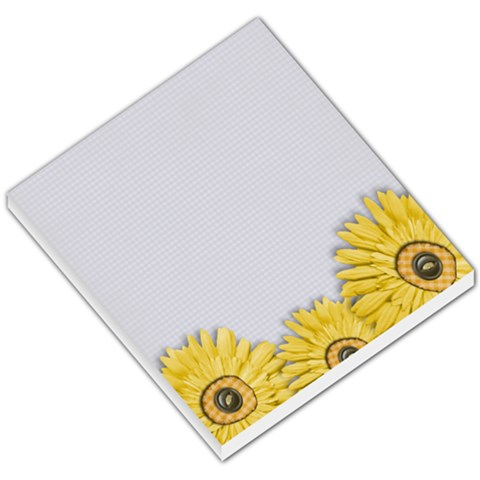 Memo Pad, Yellow Sunflowers By Mikki   Small Memo Pads   Zkciqyg7502v   Www Artscow Com